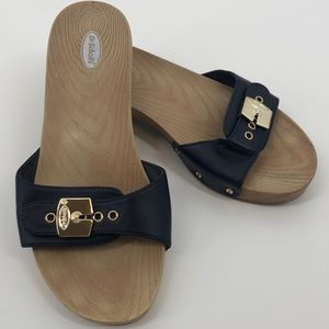 Dr. Shcoll's Classic Slip-Ons Gold Buckle Closure